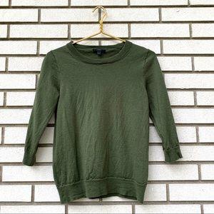 J. Crew Merino Wool Tippi Olive Green Sweater